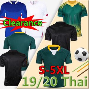 كل حجم كبير 4XL 5XL أسود جنوب بطل النسخة أفريقيا جيرسي أستراليا egfranceland قميص 2019 اليابان الركبي كأس العالم التايلاندية