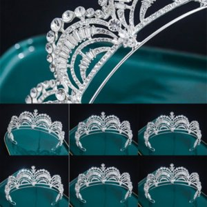 IFM Elegante Designer Designer Crystal Headband Corones e Tiaderas Princess Hair Jewelry Perle di nozze Gioielli Bridal Bianco Tiades Handmade Wedding