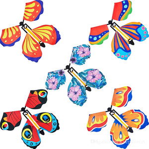 Magic Flying Butterfly Card Surprise for Explosion Box Insert Paper Flying Fairy Wind Up Butterflies Toys for Girls Valentine's Day Gift