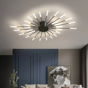 Nordic living room ceiling lamp simple modern atmosphere light  creative personality room bedroom golden firework led ceiling light