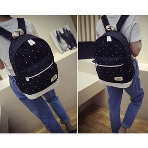 Fresh Canvas Women Backpack Big Girl Student Book Bag With Purse Laptop 3pcs Set Bag High Quality Ladies School FO S1
