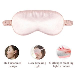 Silk Double-Side Shading EyeShade Sleeping Eye Mask Cover Eyepatch Blindfolds Eyeshade Health Sleep Shield Light Dropshipping