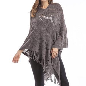 Byuan marke frauen pullover und pullovers 2018 frühling herbst fashion capes pullover dünne batwing hülse quaste gestrickt