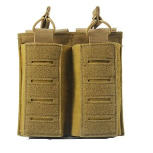 Outdoor Sports Tactical Backpack Vest Gear Accessory Mag Holder Cartridge Clip Pouch Tactical Mag AK Double Magazine Pouch P11-571