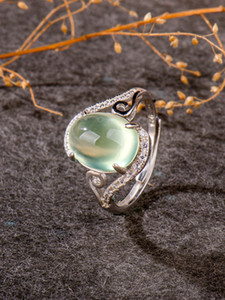 natural Prehnite, luxury Jewelry 2020, rings women, ring for girl 925 sterling silver,female accessories, wedding Z1202