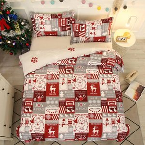 Home Textile Bedding Set Kids EU single Bed Cover PillowcaseBedclothes Polyester Christmas Children Students Bed Duvet Cover Set