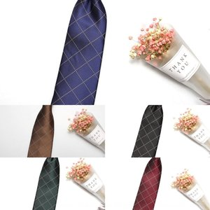 20Casual trendy typical plaid and wo yarn-dyed Casual trendy Jacquard typical plaid tie men's and women's yarn-dyed jacquard tie