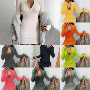 P2ZK Vestidos Designer Robe de pansement à manches longues Sexy Automne Robe De Panneau Spring Netting Femme Crayon