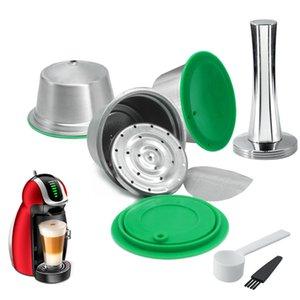 Acier inoxydable métal réutilisable café Capsule filtre Coupe pour Dolce Gusto Capsule Compatible pour machine à café Nescafé Espresso Y1116