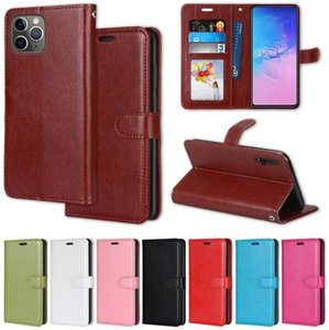 Flip Wallet Funda de cuero para Motorola Moto E 2020 G9 Play G Power 2020 g Stylus G8 Nokia 3.4 Soporte Foto 3 Tarjetas Crazy Horse Thone Cubierta