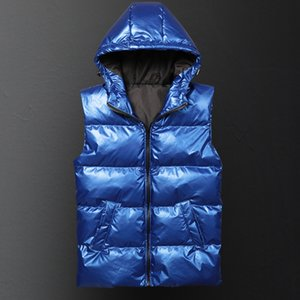 Hip Hop Fashion Men Vest Autumn and Winter Thickening Warm Vesst Men Windproof Sleeveless Jacket Mens Lovers Couple Waistcoats