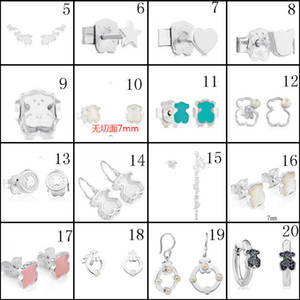 2020 100% 925 Sterling Silver Bear Classic Pierced Stud Earrings Jewelry Manufacturers Wholesale Free Shipping2