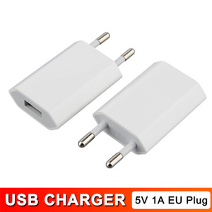 AC Power 5V 1A EU Plug USB Wall Charger Travel Adapter for iPhone 4 4s 5 5s 5c Samsung Galaxy S5 S4 Note3 HTC Sony High Quality 200 PCS