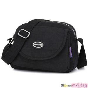 High Quality fashion canvas flap Shoulder new pink BIOAOUA Ladies Tassel acc Profile Messenger Travel Bag Women Wash purse mesh Case