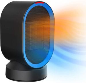 Pequeño calentador de espacio Calentador oscilante Calefacción rápida Escritorio de cerámica con protección contra sobrecalentamiento Protección de punta para oficina