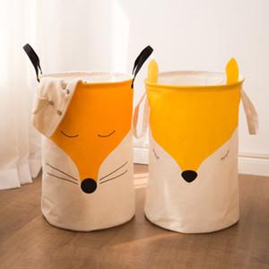 Durable Kids Toy Storage Basket couples arctic fox Washing Dirty Clothes Big Basket Folding Waterproof Bathroom Sorter 1PC Z1202