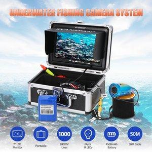 Fish Finder Portable 7 Inch Monitor 1000TVL Underwater Fishing Camera Kit 24PCS Infrared IR LEDs For Ice Lake Boat Fishing1