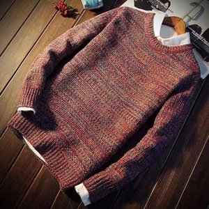 Fashion-Pullovers Men Autumn Winter Patch Designs O Neck Panelled Korean Style Trendy Casual Chic Mens Swearter Teens Stylish Daily New