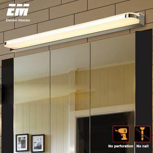 LED Mirror Light 9W 12W 40 50CM AC220-240V Waterproof Modern Cosmetic Acrylic Wall Lamp For Bathroom Light sconce lamp ZJQ0004