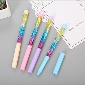 Rainbow Drift Sand Creative Ballpoint Pen Blitter Crystal Красочные Дети Новинка Канцтовары Подарочный Офис Веселье Выпуск Расслабьтесь Играть Шариковая Ручка