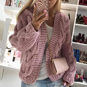 2020 Sweater Women Cardigan Coat Female Casual Long Sleeve Knitted Coat Solid Open Front Sweater Femme Autumn Warm Clothes