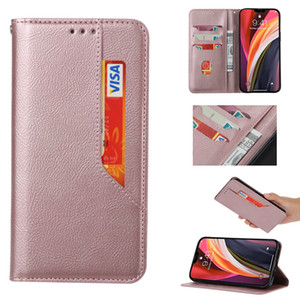 Suck Closure Magnetic Ultra thin Leather Wallet Case For Samsung Galaxy S21 Ultra S20 FE Note20 Cash Pocket Credit ID Card Holder Flip Cover