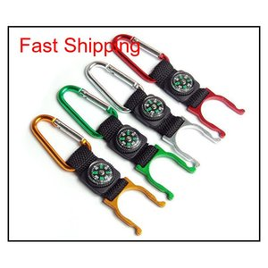 15 Pcs A Lot Carabiner Aquarius Buckle Outdoors Gear Gadgets Mountaineering Buckle With Compass Hiking Campang Fast Shipping G1Dea Dl0 Qy7Nr