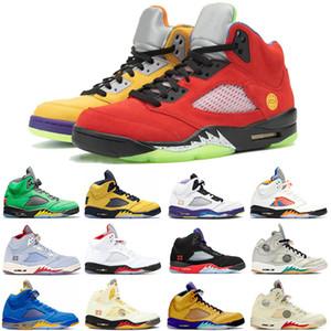 Nike Air Jordan Retro 5 Jumpman 5 5s Frauen der Männer-Basketball-Schuhe New Fire Red SatinJordanienRetro Leichtathletik Luft Trainer Sport-Turnschuhe Größe Eur 47