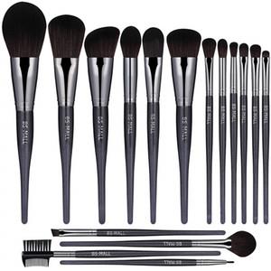 BS-MALL(TM) Makeup Brush Premium Makeup Brush Set Kabuki Cosmetic Foundation Blending Blush Eyeliner Powder Makeup Brush Set 16 pieces