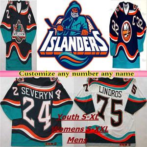 1995 Retro New York Islanders Fisherman CCM HOCKEY Jersey Hockey Wendel Clark Brett Lindros Zdeno Chara Bertuzzi Navy Blue White Stitched