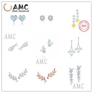 Alta qualidade original 925 prata esterlina moda brincos com original gravado jóias femininas presentes frete grátis