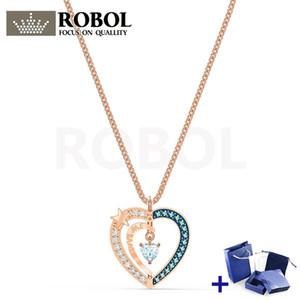 Alta qualidade original swa colar com original gravado noite estrelada colar caixa conjunto mulher jóias presente frete grátis shippingping