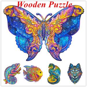 A5 Деревянная головоломка Jigsaw Уникальная форма Jigsaw Pieces Очаровательная сова Деревянная головоломка головоломка Лучший подарок для взрослых и детей