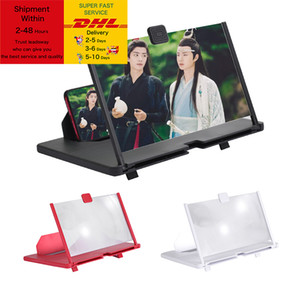 12 inch 3D Mobile Phone Screen Magnifier HD Video Amplifier Stand Bracket with Movie Game Magnifying Folding Phone Desk Holder DHL Free