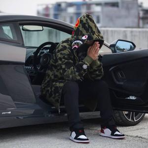 Camo Yeni erkek Kadın Severler Sportwear Coat Jogger Eşofman Fermuar Polar Kazak Kuş Ovo Drake Siyah Hip Hop Hoodie Erkekler Köpekbalığı Ağız