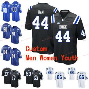 مخيط مخصص 81 ديفيز Koppenhaver 87 ماكس مكتقري 90 دكستر لورانس 99 مايك راميزي ديوك الأزرق الشياطين كلية الرجال النساء الشباب جيرسي