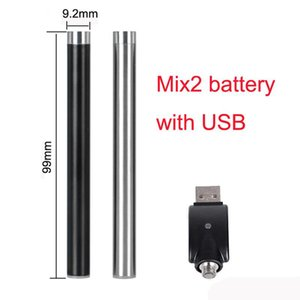 Slim Variable Voltage 280mAh Preheat Battery Mix2 Battery Thick Oil Vaping Cartridge 510 Thread Battery For CE3 G2 92A3 M6T Th205 Oil Tanks