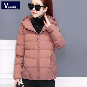 Vangull inverno mulheres casaco parkas maciça jaqueta com capuz 2020 casual novo zíper mais tamanho solto outerwear de manga longa