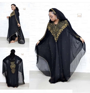 African dress size dashki diamond beads African dress abaya dubai abaya Muslim evening hooded cape