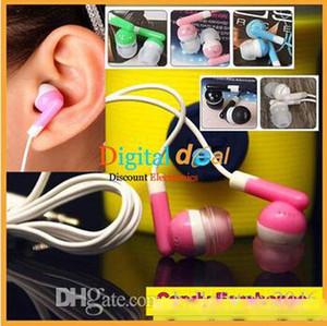 Universal Billigste schwarze Süßigkeitenfarbe In-Ear-Ohrhörer Kopfhörer für iPhone 4 3G 5 6 Kopfhörer MP3 MP4 3.5mm Audio DHL FedEx Free 150pcs / lot