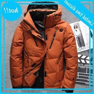 2020 Winter Down Park Jas Men Fat Warm Warm Hooded Jassen Multi-Pocket Overjas Casual Windjack Bianco Eend Donsjack 4XL
