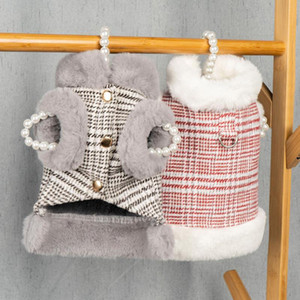 Winter Pet Clothes Warm Dog Coat Jacket for Small Dogs Winter Vest Coat with Fur Cat Clothes Outfit Dog Clothes
