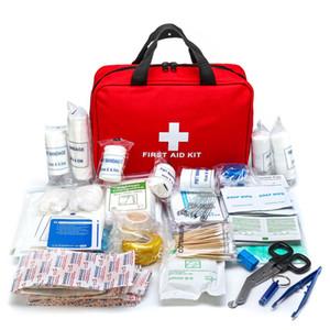 300pcs Kit di sopravvivenza di emergenza Forniture mediche Forniture per la borsa BAG TRATTAMENTO PACCHETTO SET KIT DI PRONTO SOCCORSO PER PERSONALE DEGLI UFFICIO CAMPING Y200920