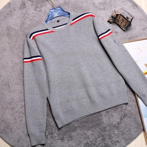 The new 2020 men's sweater long-sleeved sweater autumn winter semi-turtleneck sweater trend neck trimmer bottom shirt