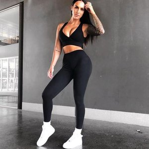 2020 New Sports Running Yoga Suit Women Workout Set Fintess Clothing Push Up Leggings Sport Wear Women Suits Tracksuit