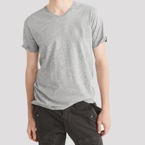 V Collar Mens Camisetas Macio Respirável Jovem Mulheres 100% Algodão t - shirts Homem de moda dos homens camisetas Tops de manga curta Femalel Tshirts