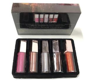 새로운 크리스마스 입술 광택 세트 미니 다이아몬드 립 글레이즈 립글로스 5 PCS 광택 폭탄 축제 젖꼭지 무료 배송