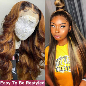 European and American wig straight hair ladies brown gradient long straight hair rose net wig free shipping