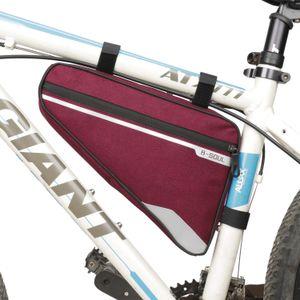 Fahrradtasche Große Kapazität MTB Straßenrahmen Tasche Dreieck Beutel Wasserdichte Fahrradtasche Pannier Zubehör 4 Farben