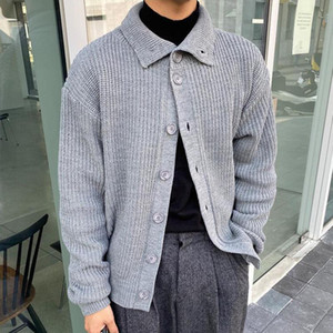 Designers Coréen épais Cardigan Cardigan Slim Chaud Slim Fashion Vapelle Pull manteau Hommes Hiver Tricot Sweaters Jacket Hommes Vêtements M-XL